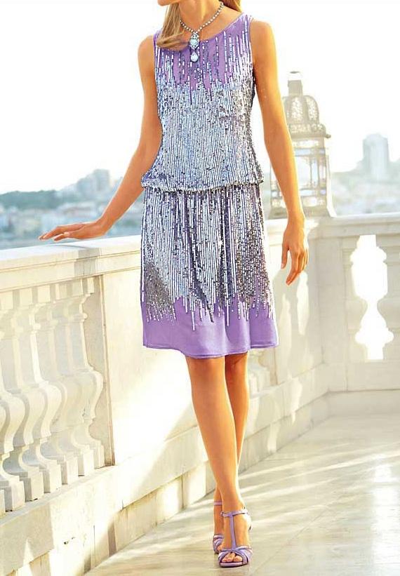 robe femme de soiree cocktail argent lavande marque heine par robe de