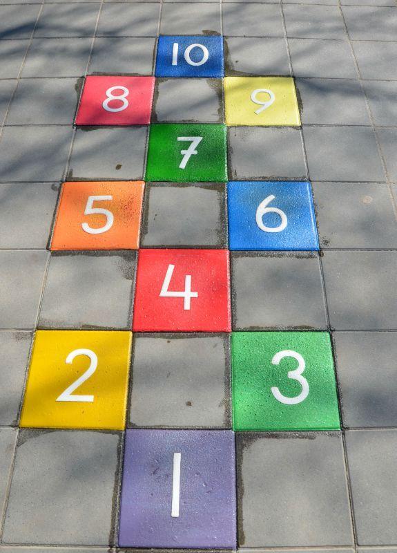 pleinplakker Hinkelbaan 10 kleuren mix  Hercules Speeltoestellen