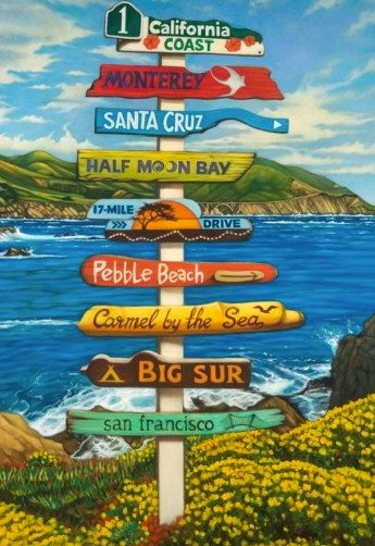 California Coast Poster Print. $24.95, via Etsy.