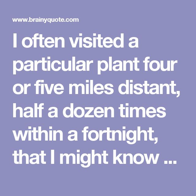 I often visited a particular plant four or five miles distant, half a dozen times within a fortnight, that I might know exactly when it opened. - Henry David Thoreau - BrainyQuote