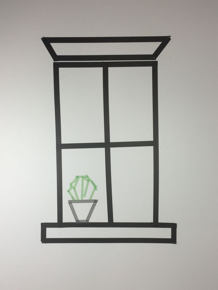This washi tape window would be such a cute addition to any room!
