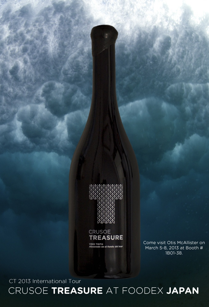 From 5-8 of March, Crusoe Treasure Underwater Wine is going to be at FoodEx Japan.
