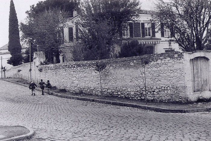 The Lane house of Bornova photographed in 1956. The house was pulled down in 1973 and there is now a secondary school in its place. Rufus Lane [commercial postcards sent by this man] was a consular official at the US Consulate and married the Miss Pyaschi in 1898 and so acquired this family property. The great-grandchildren of Rufus Lane now live in Richmond, Virginia, USA.