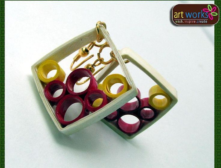 Handmade Colorful Quilled Paper Jewelry