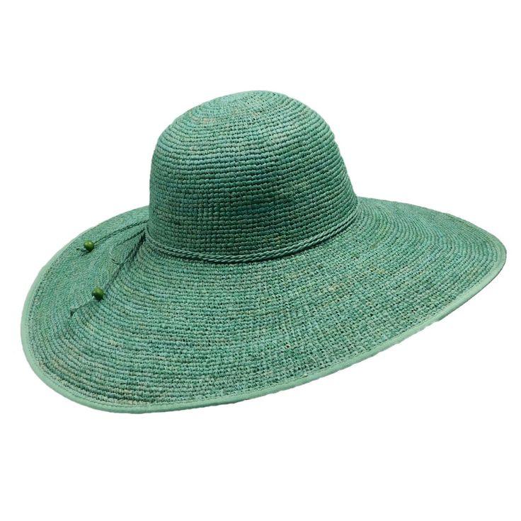 Crochet Raffia Beach Hat