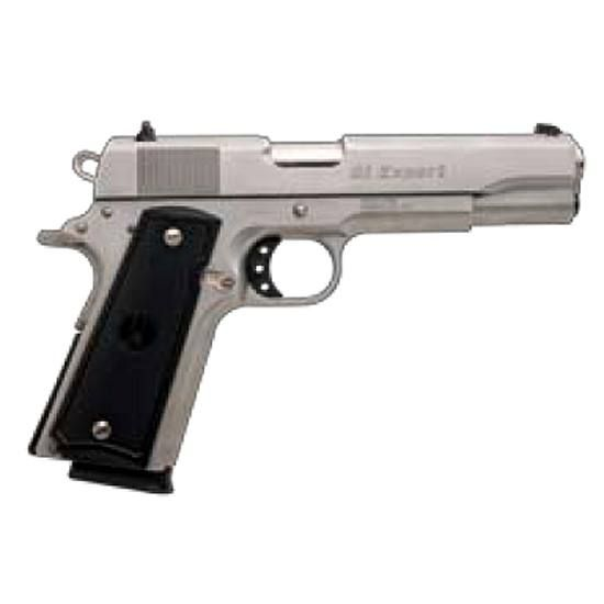 "Para-Ordnance 1911 GI Expert Semi-Automatic Handgun .45 ACP 5"" Barrel 8 Rounds Black Checkered Polymer Grips Stainless Steel Finish"