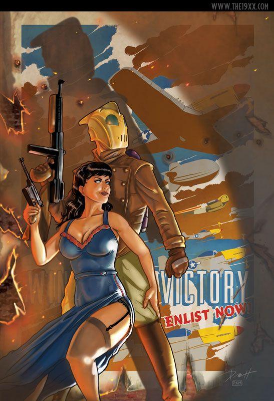 The Rocketeer at War by PaulRomanMartinez on DeviantArt