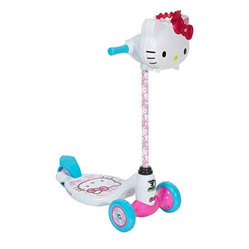 "Hello Kitty Dynacraft 3 Wheeled Scooter, 5"", White/Blue/Pink //Price: $68.52 & FREE Shipping // World of Hello Kitty https://worldofhellokitty.com/product/hello-kitty-dynacraft-3-wheeled-scooter-5-whitebluepink/    #giftshop"