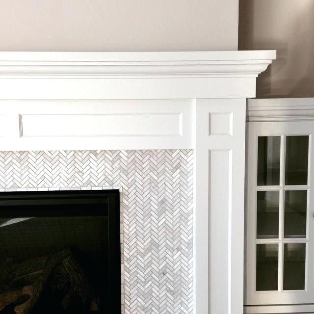 mosaic tile fireplace surround glass around images