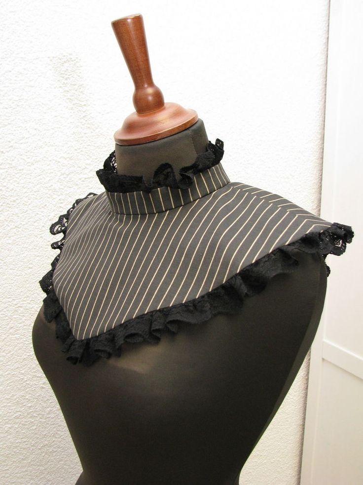 Viktorianischer Kragen gestreift Victorian Gothic Viktorianisch Steampunk