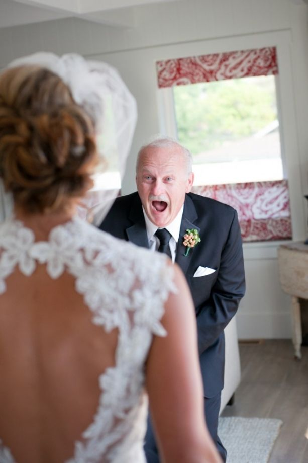 The best reaction from the father of the bride... EVER.