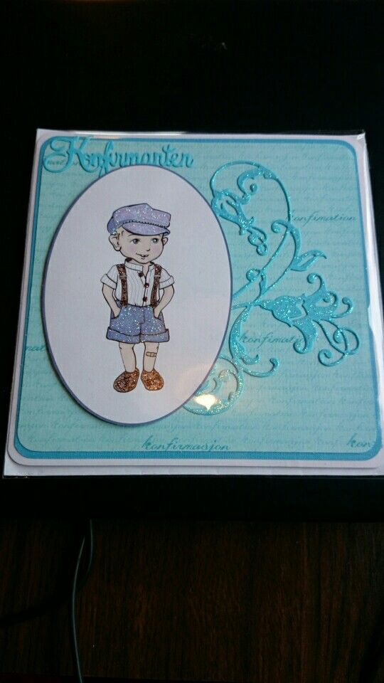 Konfirmasjonskort. Confirmation card. Made by me BBH