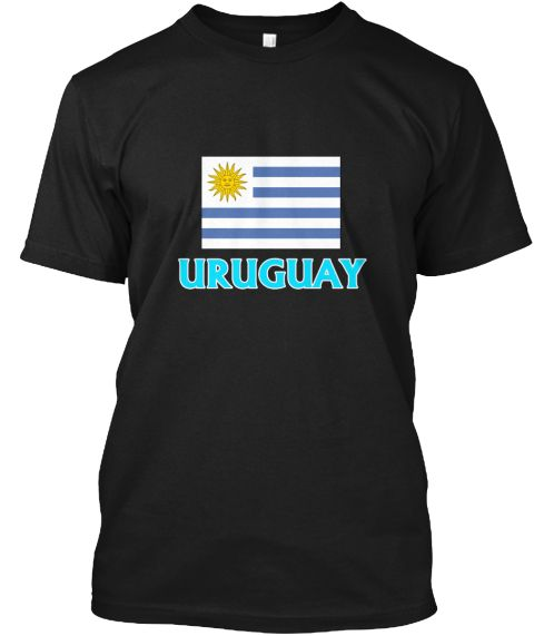 Uruguay Flag Classic Blue Design Black T-Shirt Front - This is the perfect gift for someone who loves Uruguayan. Thank you for visiting my page (Related terms: I Heart Uruguay,Uruguay,Uruguayan,Uruguay Travel,I Love My Country,Uruguay Flag, Uruguay Map,Uruguay #Uruguayan, #Uruguayanshirts...)