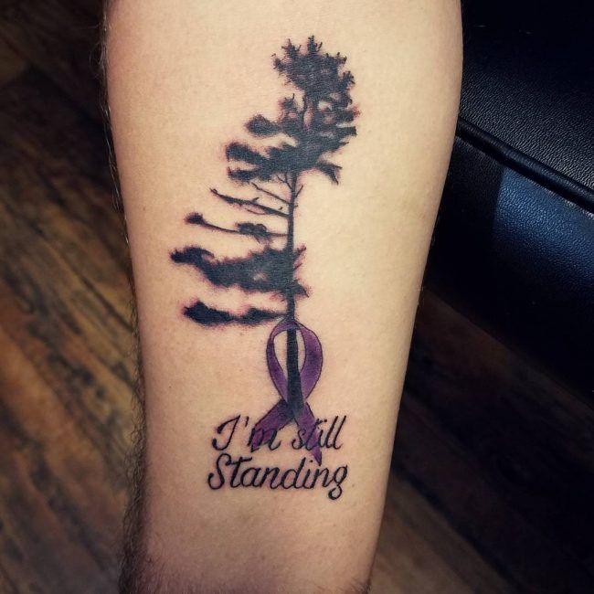 Lung Cancer Tattoo Designs