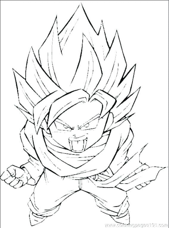 Goku Super Saiyan 1 Coloring Pages Dragon Ball Art Dragon Ball Z Cartoon Coloring Pages