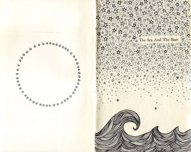 stars / waves / pen doodles - doodling stars and gradient