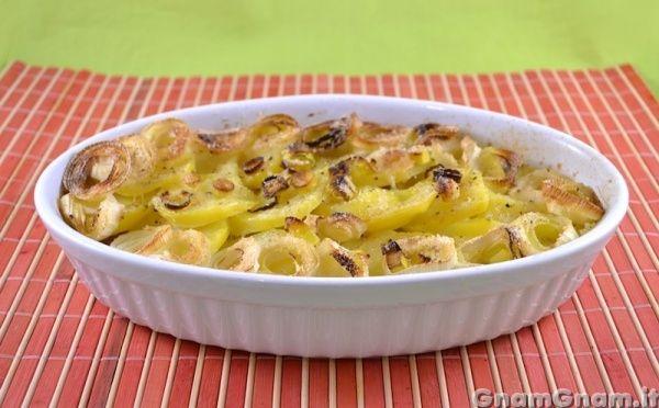 7 porri e patate al forno