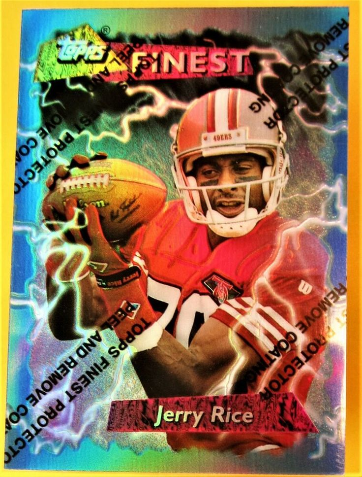 1995 jerry rice topps finest refractor coating 185 san