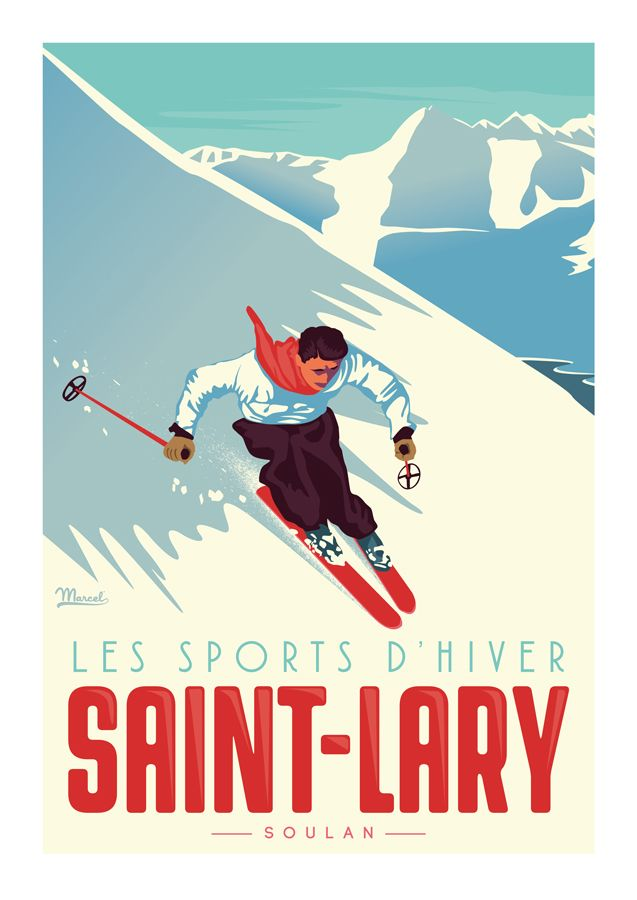 marcel saint lary le skieur marcel posters pinterest affiches. Black Bedroom Furniture Sets. Home Design Ideas