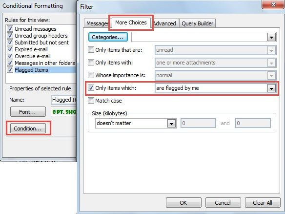 How To Change The Font Of Flagged Items In Your Outlook Message List Messages Teaching List