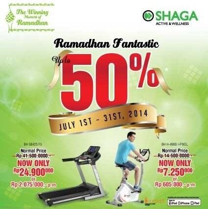 Shaga: Promo Ramadhan Fantastic, Discount up to 50% @SHAGA_ID