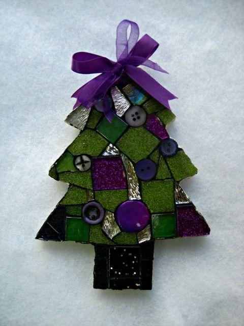Mosaic Tree Christmas Ornament