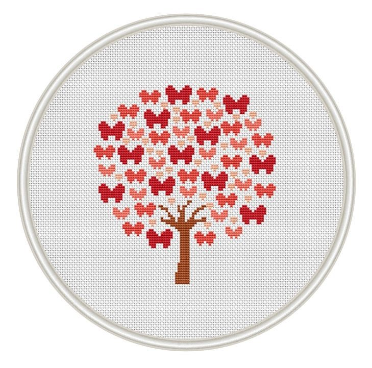 Butterfly tree cross stitch pattern Instant by MagicCrossStitch
