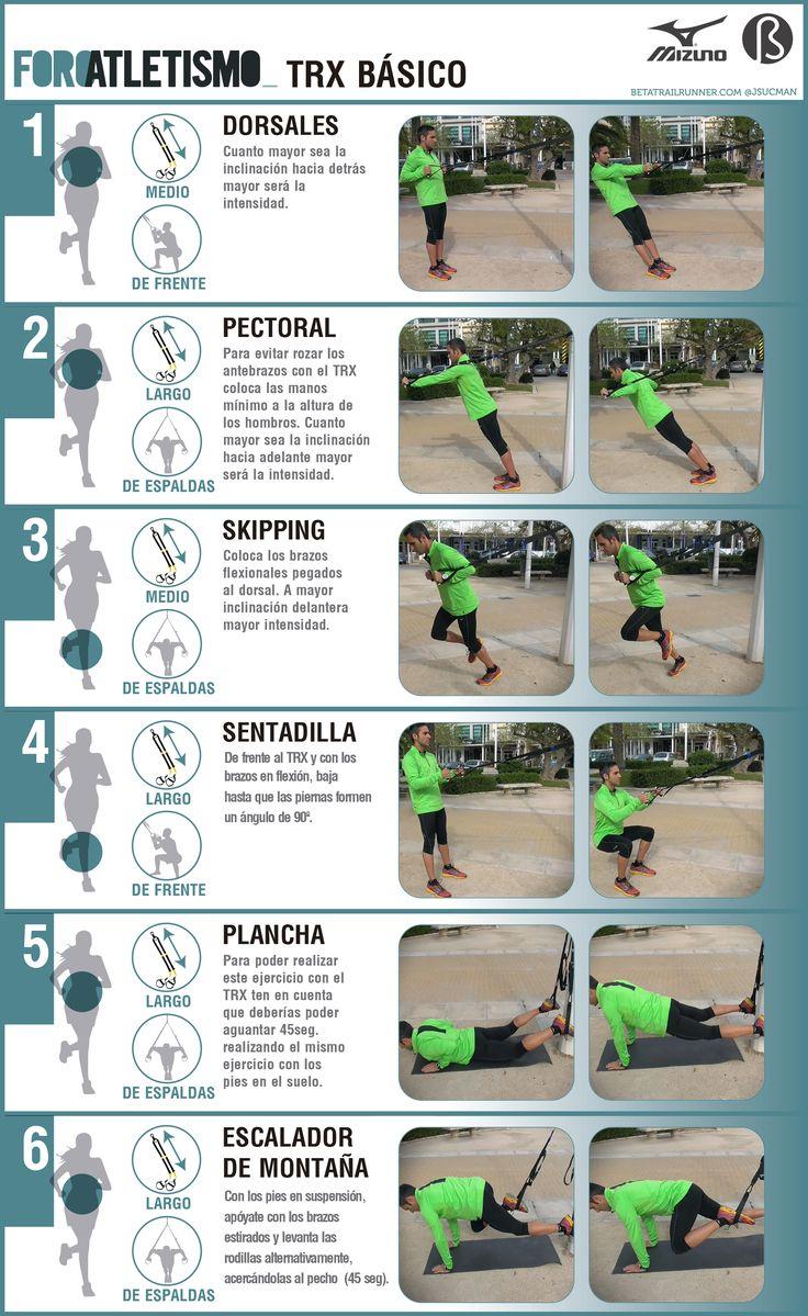 Ejercicios TRX para todo el cuerpo: rutina básica