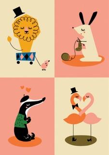 The Claudettes - cute graphic designs - animals