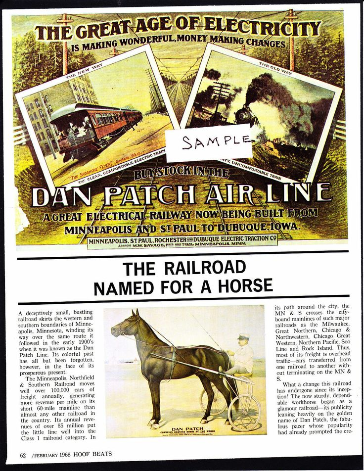 """1968 Hoof Beats article about the Dan Patch Air Line, """"A"""