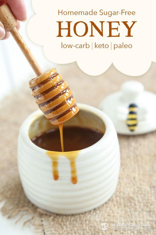 Homemade Sugar-Free Honey (low-carb, keto, paleo/ primal)  2 tbsp bee pollen (18 g/ 0.6 oz) 1-2 tbsp warm water ½ cup Sukrin Fiber Syrup Clear (170 g/ 6 oz)