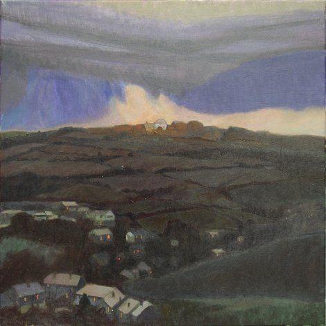 Tom Henderson Smith, Winter Dusk, Tregeseal  70 (H) × 70 (W) cms
