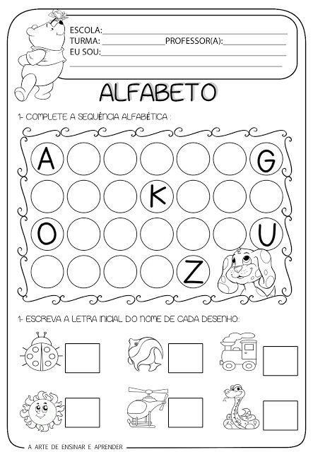 Atividade pronta - Alfabeto e letra inicial