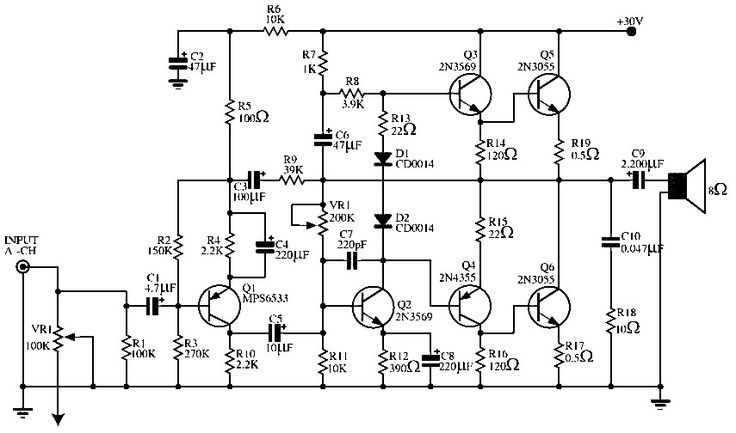 class e amplifier circuit diagram power amplifier circuit diagram audio power amplifier circuit 140 w | elektronıl ... #12