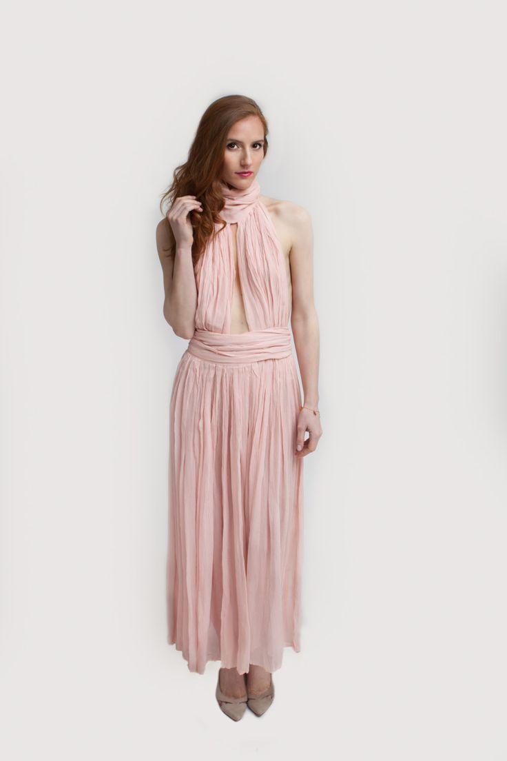 Crinkled silk chiffon dress by InaVisichDesigns on Etsy