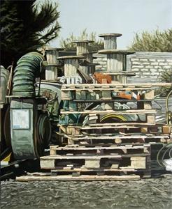 Artist/ Andrea Di Marco, Babel, olio su tela, cm 180x220 (2008)