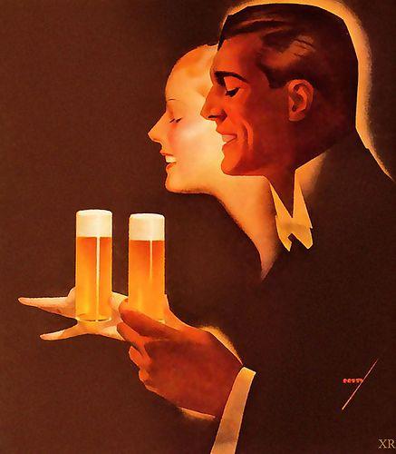 Beer! -- 1932 -- artist George Petty.
