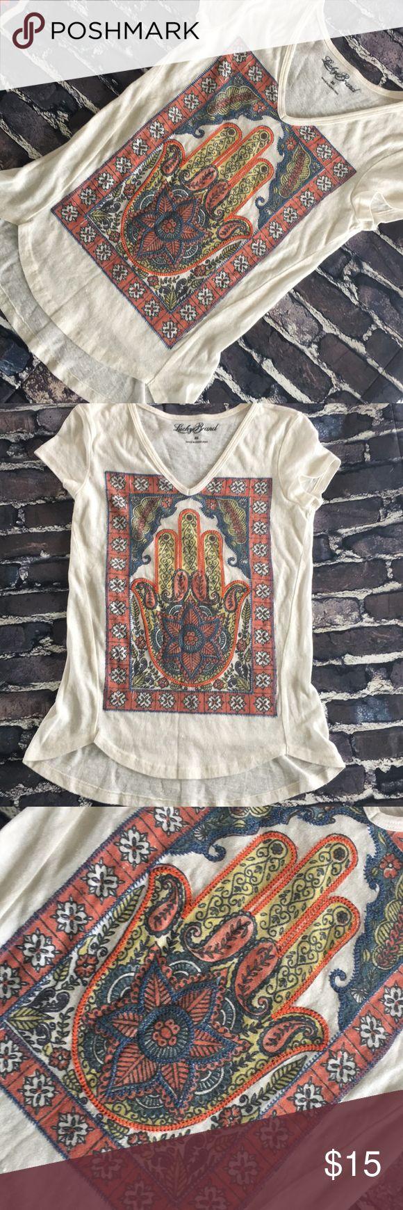 Hamsa Bohemian blouse size xs #hamsa #hippie #boho #yoga #peaceful #festival #unique top great condtion size xs bundle & save $$$$ Tilly's Tops Blouses