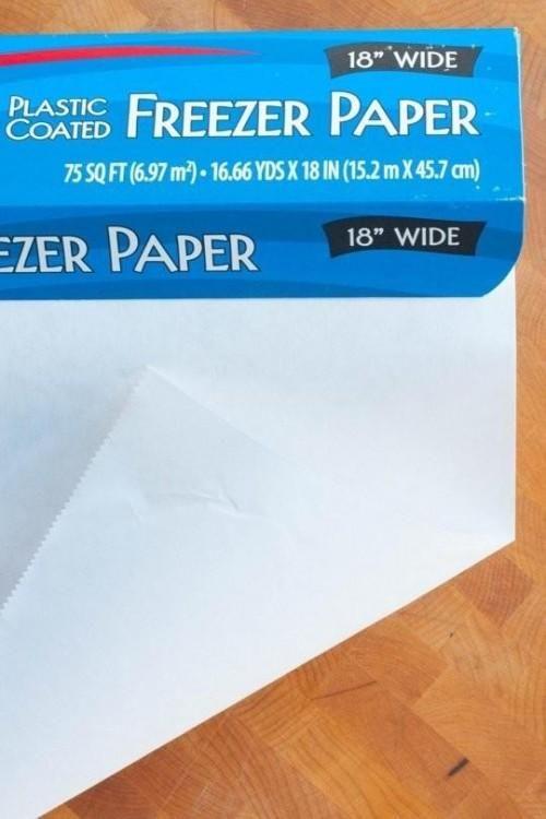 O que é congelador papel, e como ele é diferente de Papel de Cera & pergaminho?