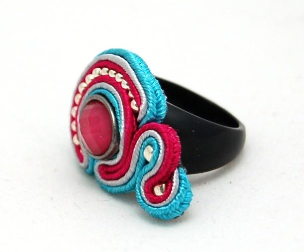 pierścionek sutasz soutache ring 1