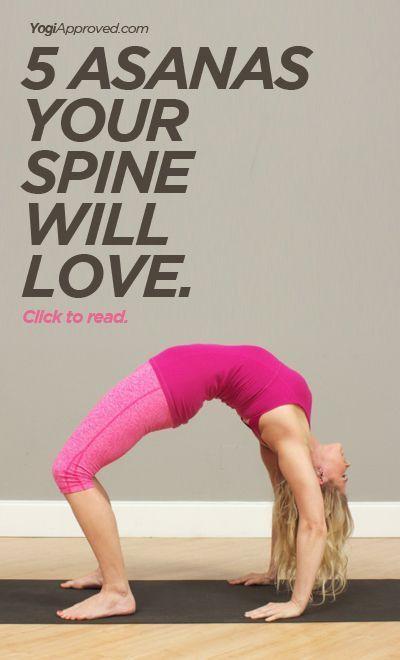 5 yoga poses for your spine - YogiApproved.com #yoga #yogi #asana