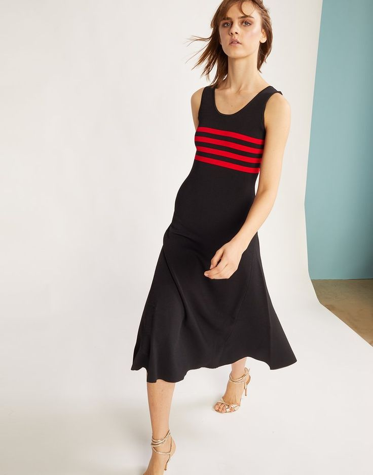 Riviera Striped Knit Dress                      – Cynthia Rowley