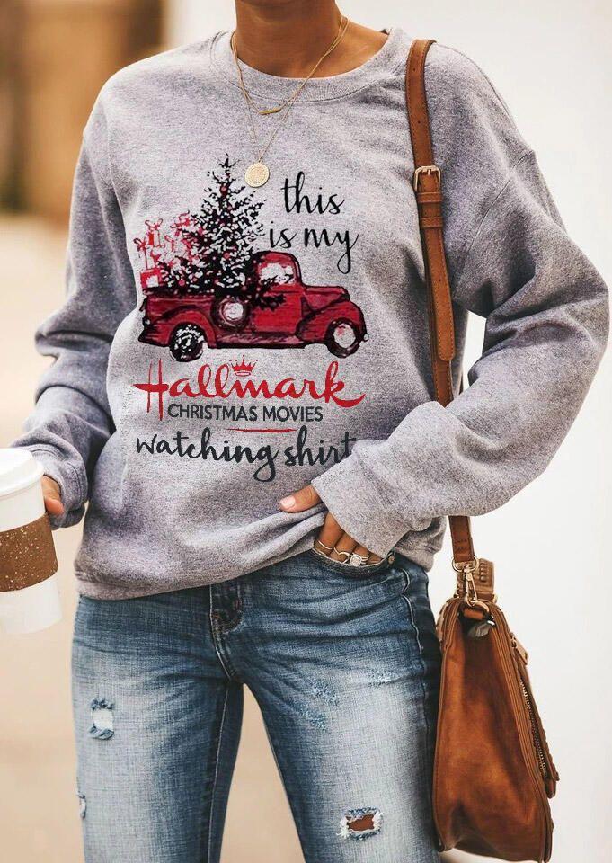 Hallmark Movie Shirt Christmas Movies Tree Xmas This is My Hallmark Christmas Movies Watching Sweatshirt