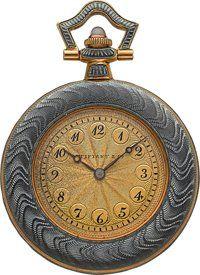 Tiffany & Co. Enamel & Gold Pendant Watch