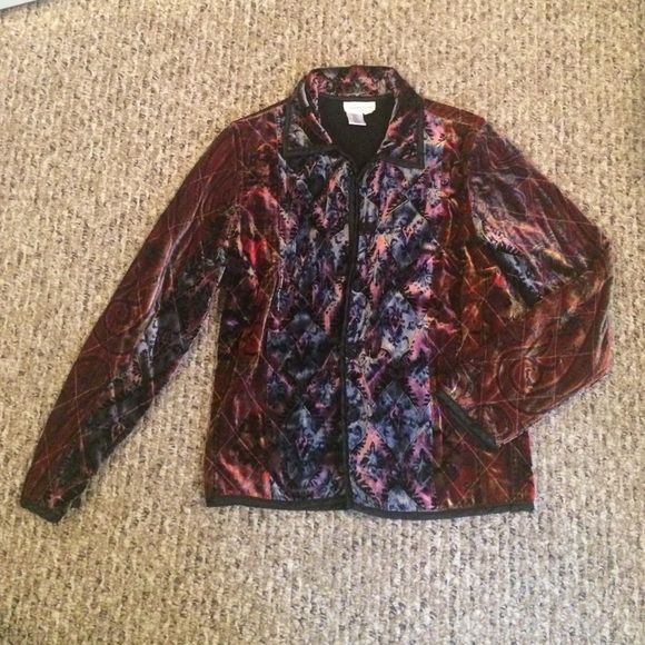 Coldwater Creek Vintage Winter Blazer/Coat Beautiful vintage looking Coldwater Creek blazer/coat! Velvet look and feel on the outside. Very warm for cold days! Beautiful pattern! Coldwater Creek Jackets & Coats Blazers