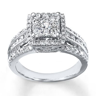 My Ring Diamond Engagement 1 Cts Tw Round Cut White Gold Find This Pin And More On Wedding Rings