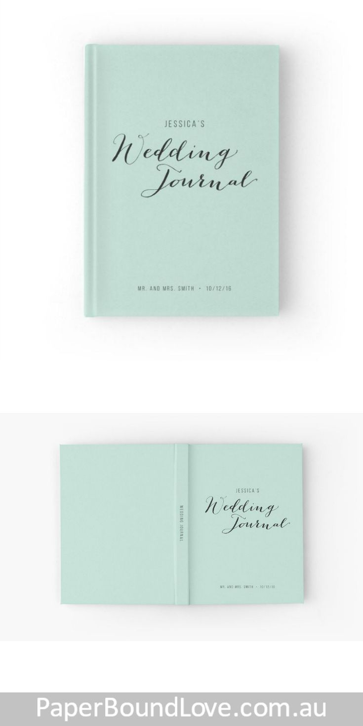 Minty Wedding Guest Book by PaperBoundLove