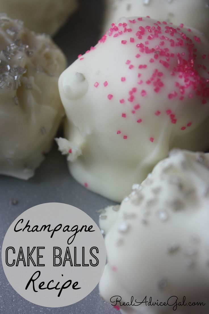 This Champagne Cake Balls Recipe is perfect for your New Years Eve celebration