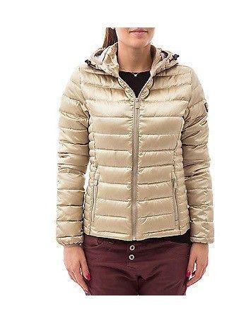 Giubbino Ciesse Piumini donna real down jacket cgw559 01943 gold oro metallizzato 100gr fw 16/17