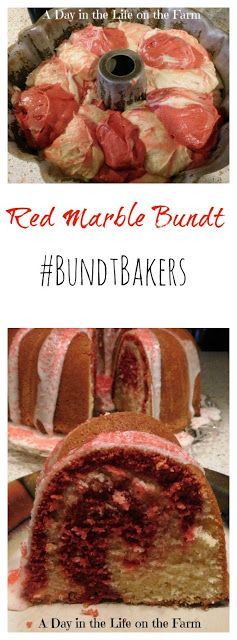 A Day in the Life on the Farm: Red Marble Bundt Cake #BundtBakers